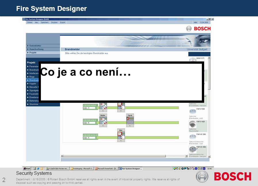 3 Fire System Designer Department | 8/19/2005 | © Robert Bosch GmbH reserves all rights even in the event of industrial property rights.