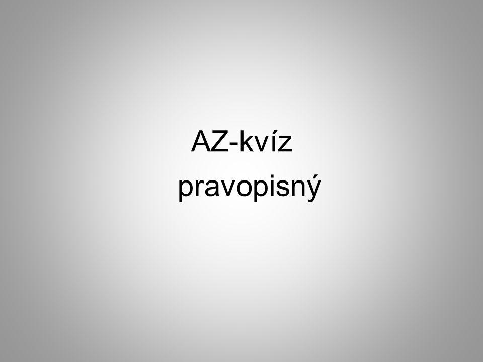 AZ-kvíz pravopisný