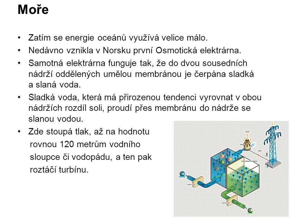 Příbojové elektrárny nejsou moc rozšířené.
