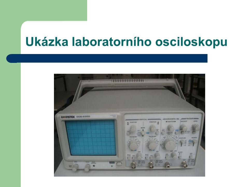 Ukázka laboratorního osciloskopu
