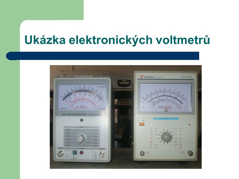 Ukázka elektronických voltmetrů