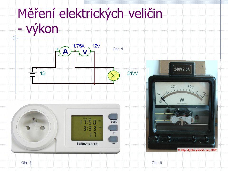 Měření elektrických veličin - výkon Obr. 4. Obr. 5.Obr. 6.