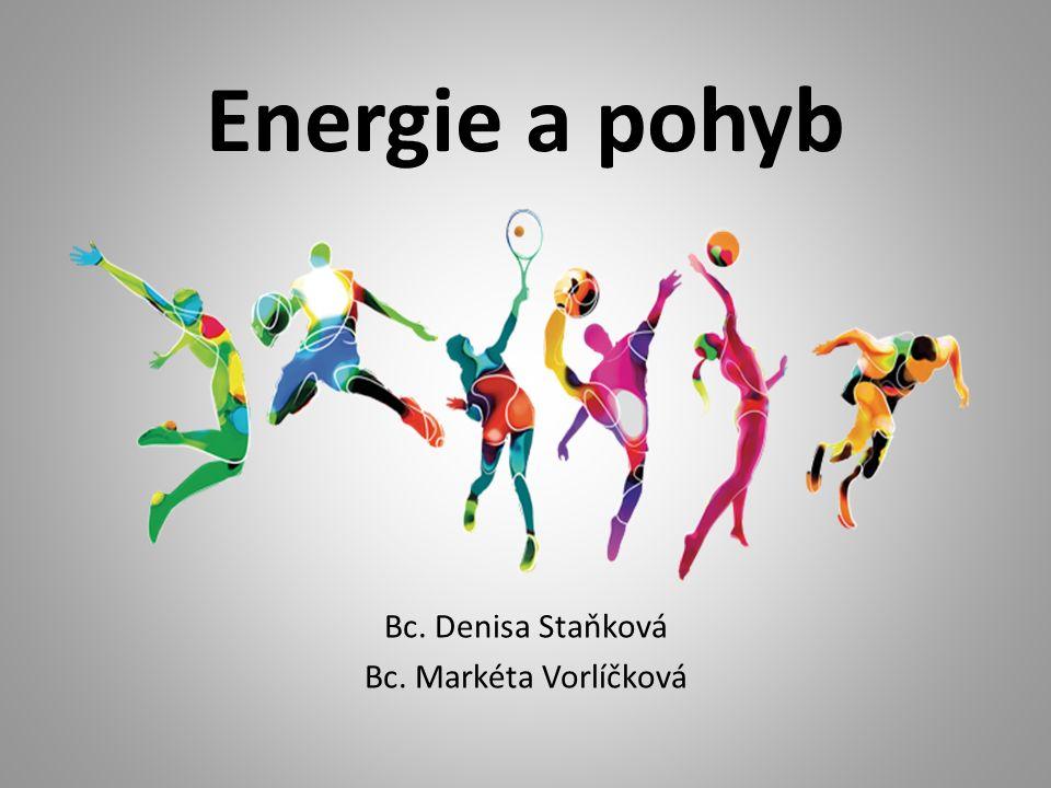 Energie a pohyb Bc. Denisa Staňková Bc. Markéta Vorlíčková
