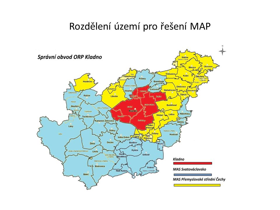 Rozdělení území pro řešení MAP