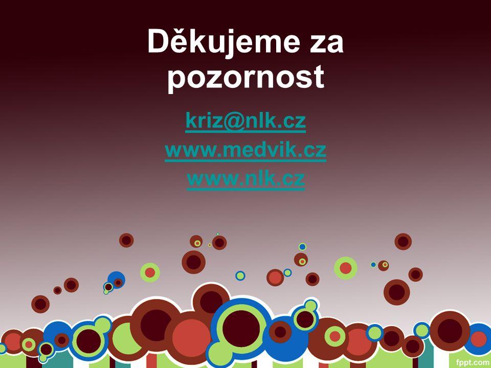 Děkujeme za pozornost kriz@nlk.cz www.medvik.cz www.nlk.cz