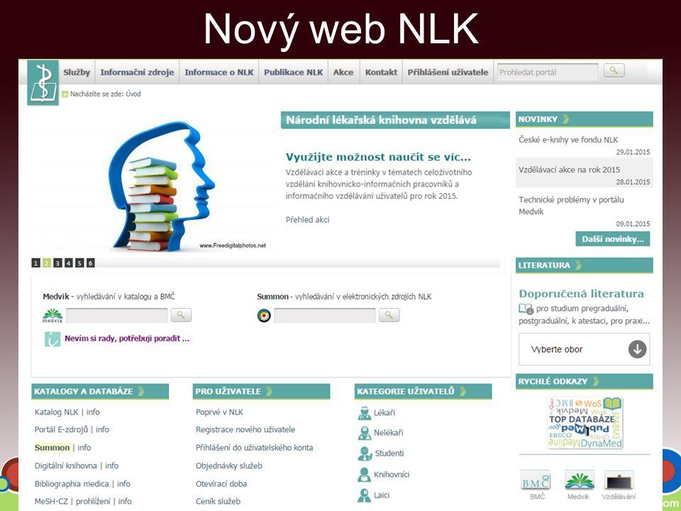 Nový web NLK