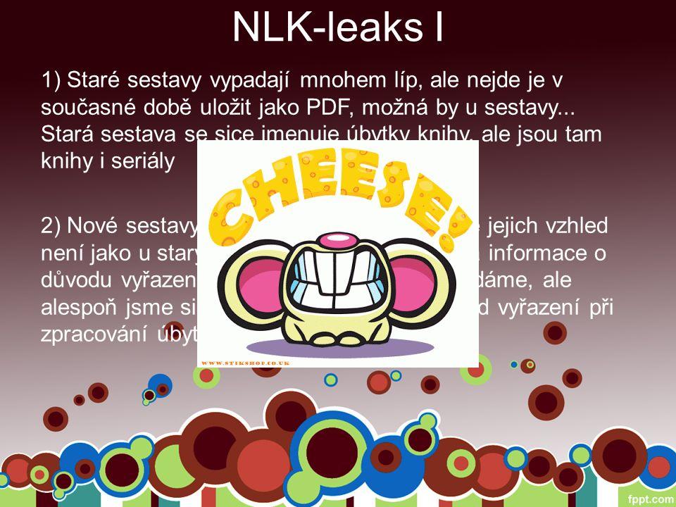 NLK-leaks I 1) Staré sestavy vypadají mnohem líp, ale nejde je v současné době uložit jako PDF, možná by u sestavy...