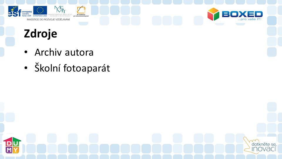 Zdroje Archiv autora Školní fotoaparát