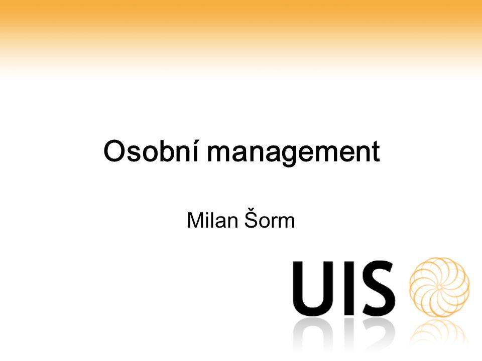 Osobní management Milan Šorm