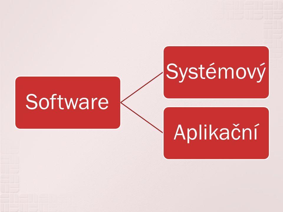 Neboli programové vybavení počítače zahrnuje veškeré programy nainstalované v počítači – operačním systémem počínaje a různými hrami konče.