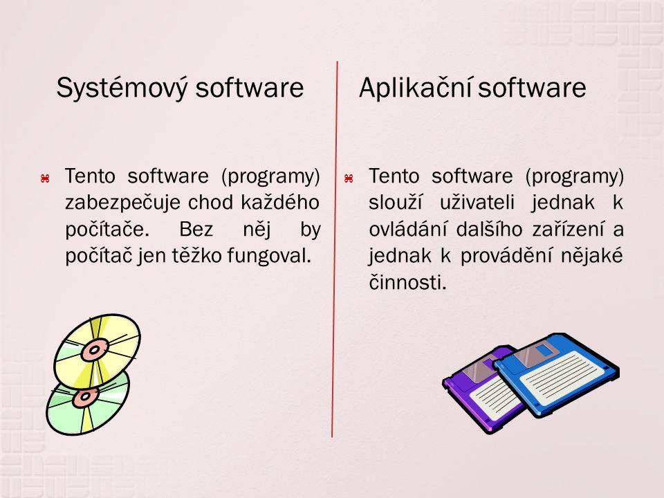 SoftwareSystémovýAplikační