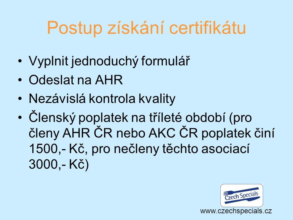 Výhody certifikace Český rozhlas a Toulavá kamera Propagační materiály Webová prezentace Portály www.kudyznudy.cz a www.czechtourism.comwww.kudyznudy.cz www.czechtourism.com Sociální sítě www.czechspecials.cz