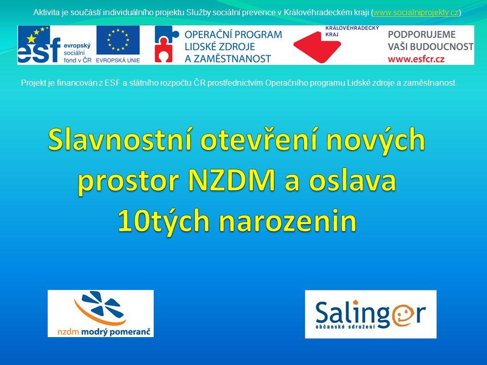Aktivita je součástí individuálního projektu Služby sociální prevence v Královéhradeckém kraji (www.socialniprojekty.cz).www.socialniprojekty.cz Proje