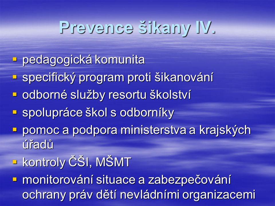 Prevence šikany IV.