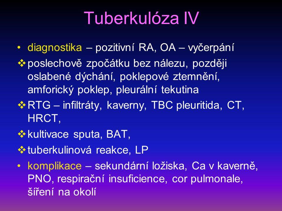Sarkoidóza II diagnostika – na RTG hilová lymfadenopatie, negativní tuberkulinová reakce a nodózní erytém bérců – Lofgrenův syndrom – stadium I.