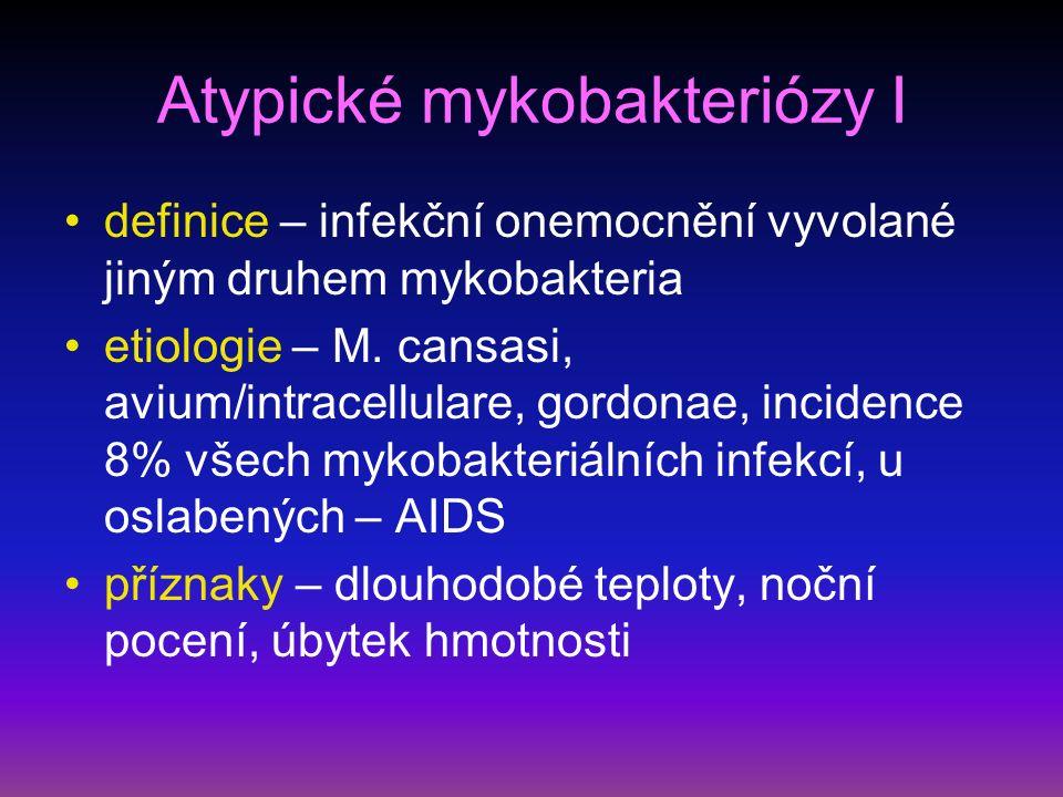 Wegenerova granulomatóza II diagnostika – RTG – oboustranné plicní infiltráty s tendencí k rozpadu, známky glomerulonefritidy, přesná DG – biopsie nosní nebo bronchiální sliznice a ledvin komplikace – krvácení do dýchacího traktu, renální selhání léčba – kombinace kortikoidů s cyklofosfamidem, při renálním postižení nefrologická péče, léčbou dosaženo dlouhodobé remise s relapsy