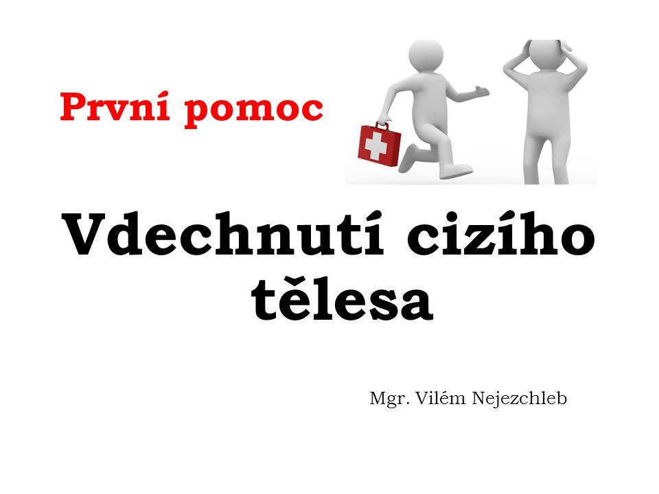 První pomoc Vdechnutí cizího tělesa Mgr. Vilém Nejezchleb