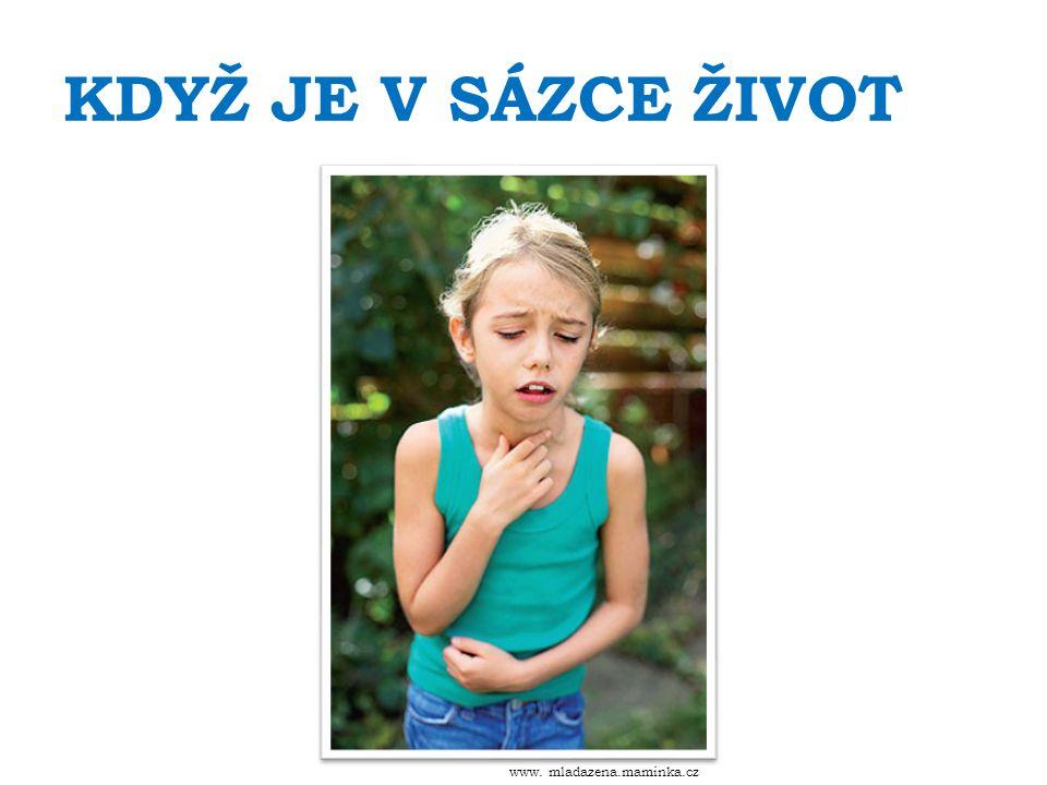 KDYŽ JE V SÁZCE ŽIVOT www. mladazena.maminka.cz
