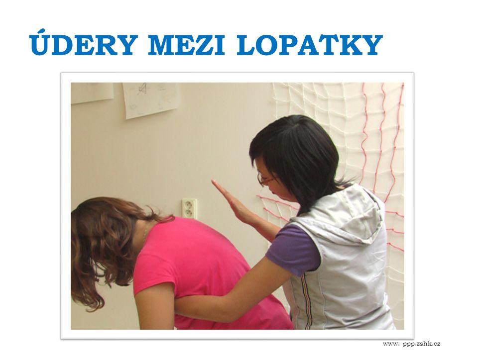 ÚDERY MEZI LOPATKY www. ppp.zshk.cz