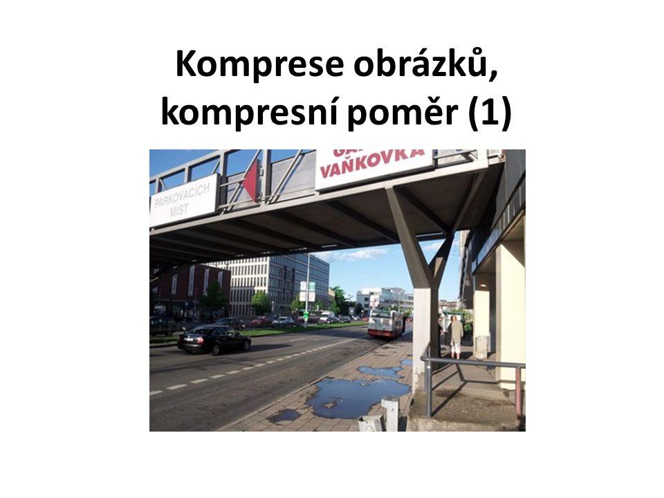 Komprese obrázků, kompresní poměr (1)