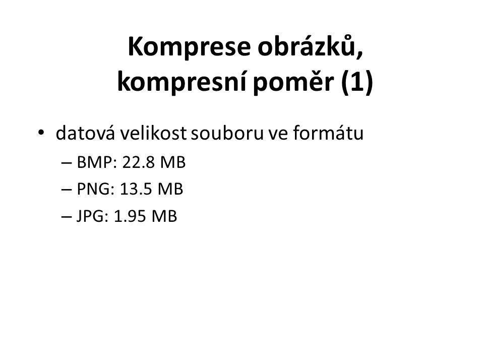 datová velikost souboru ve formátu – BMP: 22.8 MB – PNG: 13.5 MB – JPG: 1.95 MB