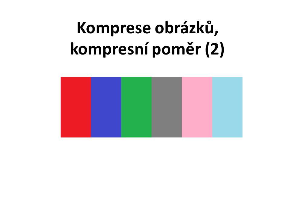 Komprese obrázků, kompresní poměr (2)