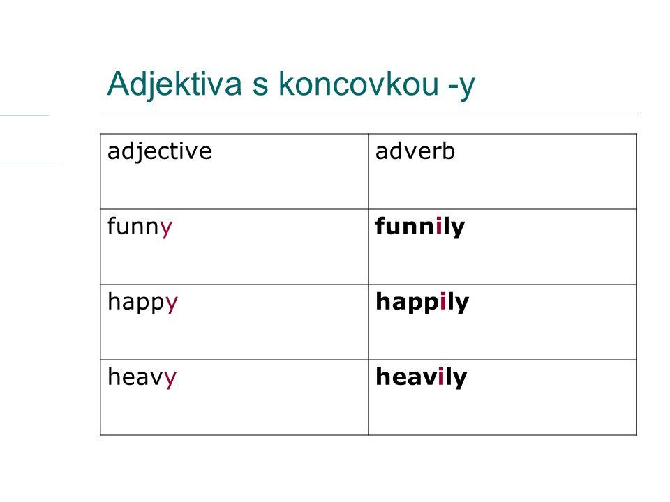 Adjektiva s koncovkou -ic adjectiveadverb diplomaticdiplomatically tragictragically historichistorically
