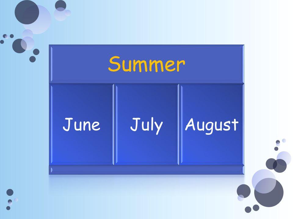 Summer JuneJulyAugust