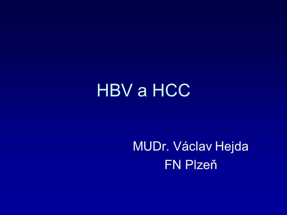 HCV alkohol HBV Neznámé HCV, léčená HBV HCV, HBV Hemochromatóza Nosič HBV Vývoj/změna etiologie HCC v Německu Rizikové faktory pro (%) HCC