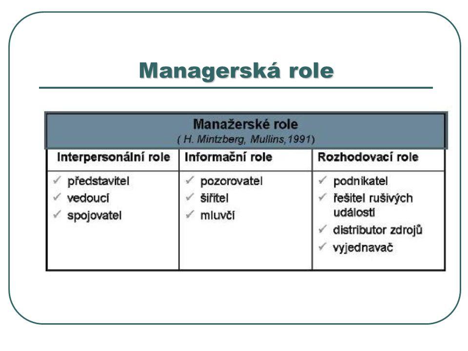 Managerská role