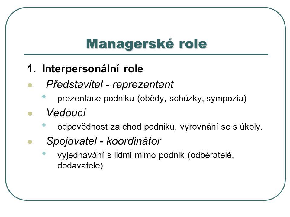 Managerské role 1.