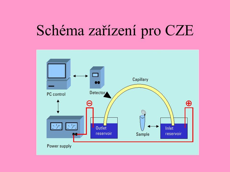 Schéma zařízení pro CZE