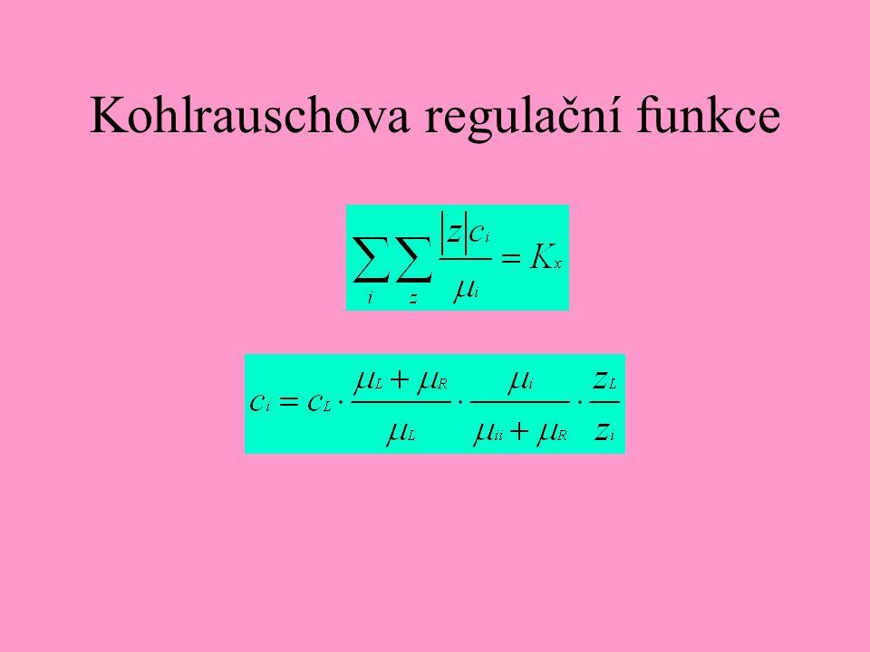Kohlrauschova regulační funkce