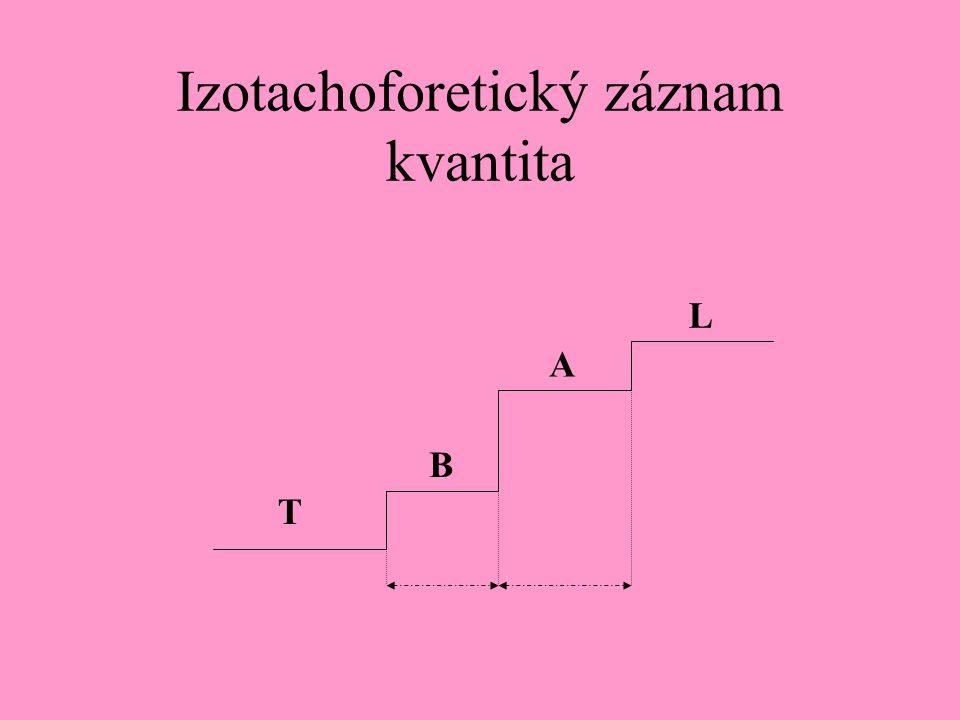 Izotachoforetický záznam kvantita A T L B