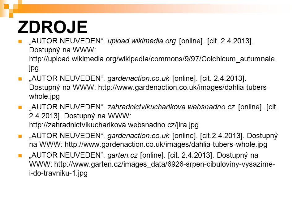"""ZDROJE """"AUTOR NEUVEDEN . upload.wikimedia.org [online]."""