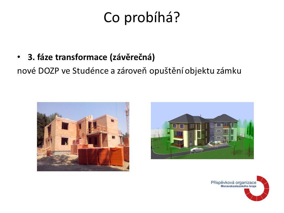 Co probíhá 3. fáze transformace (závěrečná) nové DOZP ve Studénce a zároveň opuštění objektu zámku