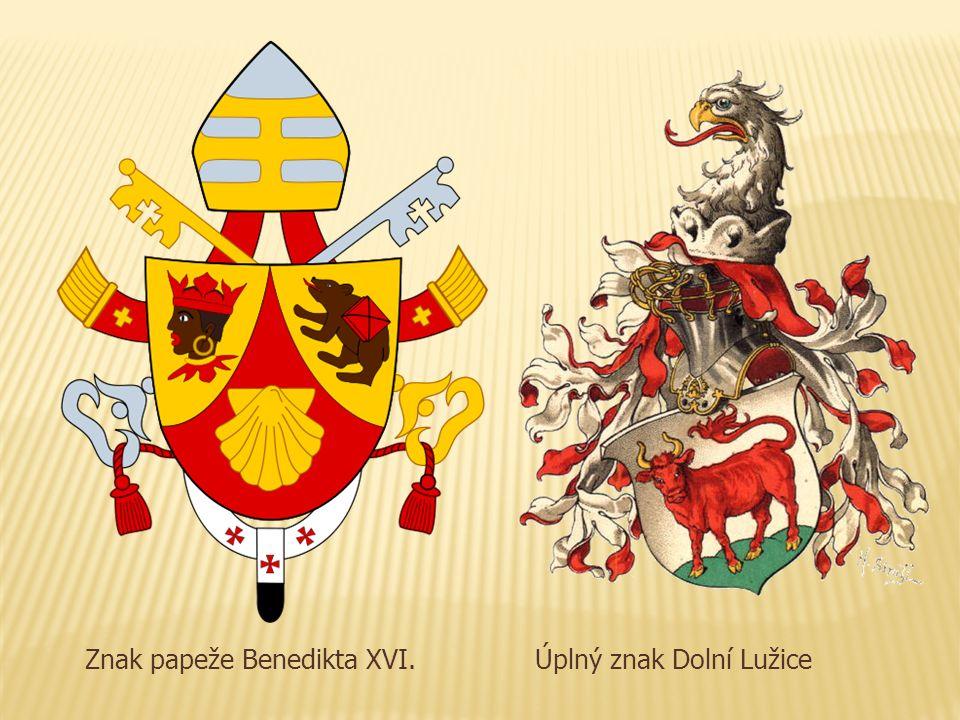 Znak papeže Benedikta XVI.Úplný znak Dolní Lužice