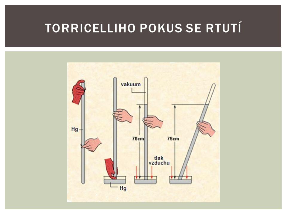  Silnostěnnou trubici asi 1m dlouhou a na jednom konci zatavenou naplníme rtutí. POSTUP