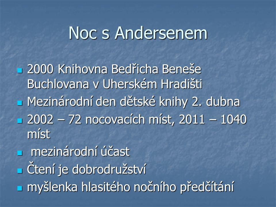 Noc s Andersenem internetový chat internetový chat sdružení Březen – měsíc internetu sdružení Březen – měsíc internetu zdrávice panu Andersonovi, dánskému velvyslanci, prezidentům...