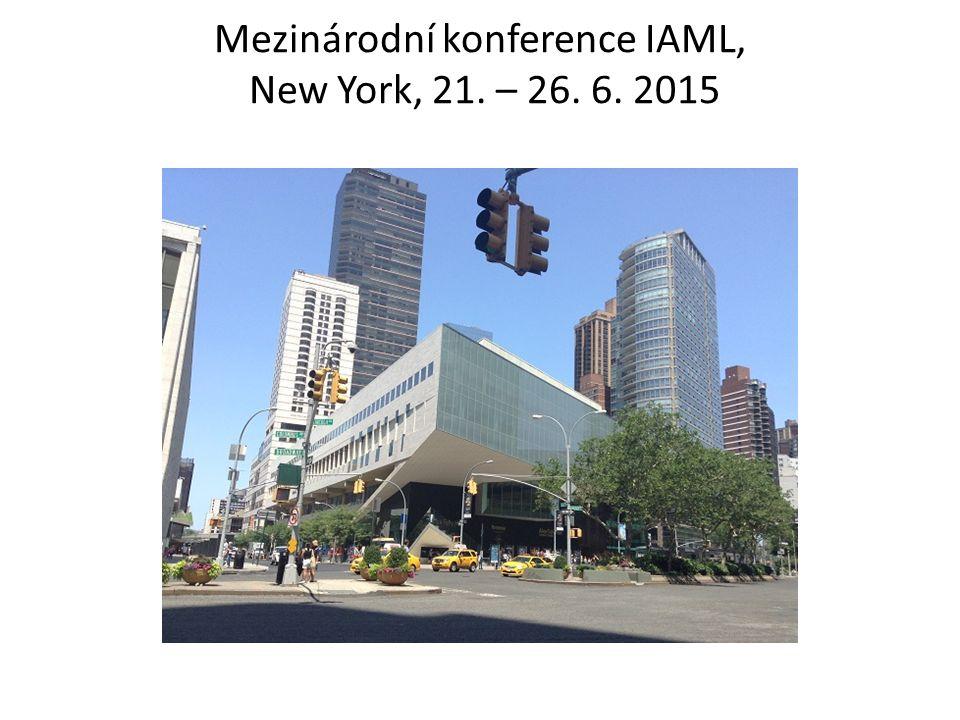Mezinárodní konference IAML, New York, 21. – 26. 6. 2015