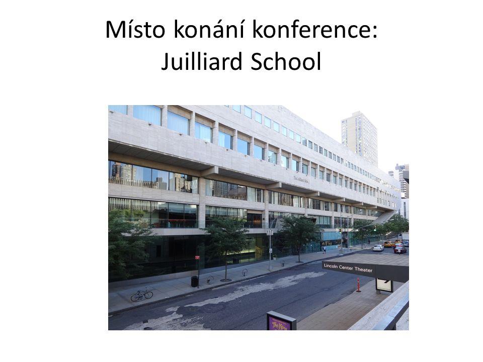 Místo konání konference: Juilliard School
