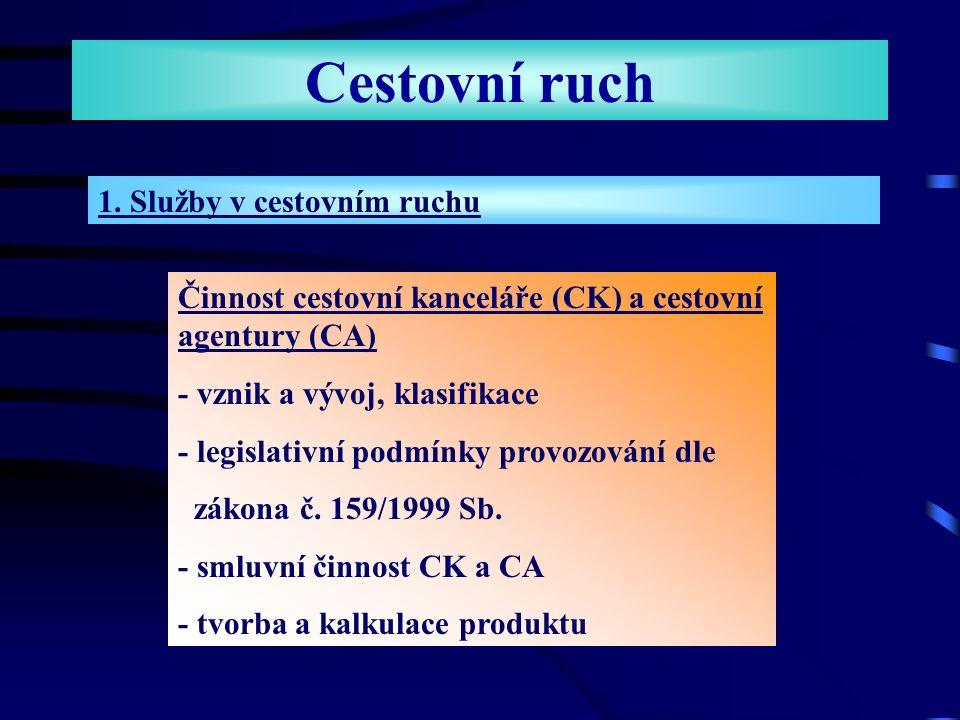 Cestovní ruch Doporučená učebnice: Ing. Miroslav Čertík, CSc. a kolektiv autorů CESTOVNÍ RUCH Vývoj, organizace a řízení