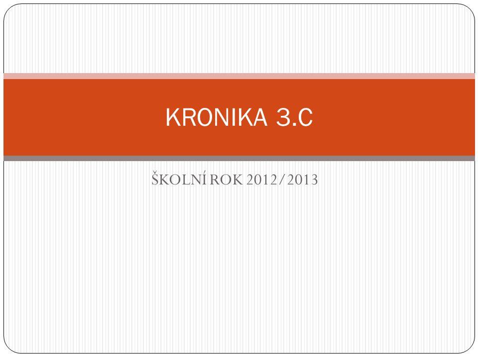 ŠKOLNÍ ROK 2012/2013 KRONIKA 3.C