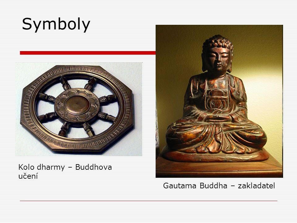 Symboly Gautama Buddha – zakladatel Kolo dharmy – Buddhova učení