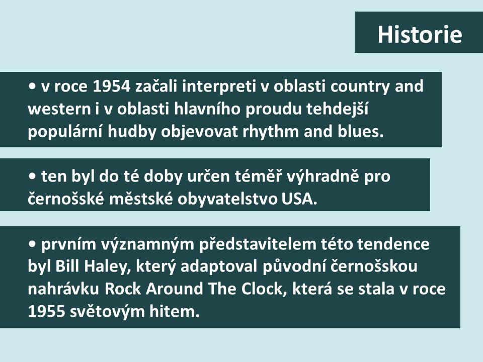 v roce 1954 začali interpreti v oblasti country and western i v oblasti hlavního proudu tehdejší populární hudby objevovat rhythm and blues.