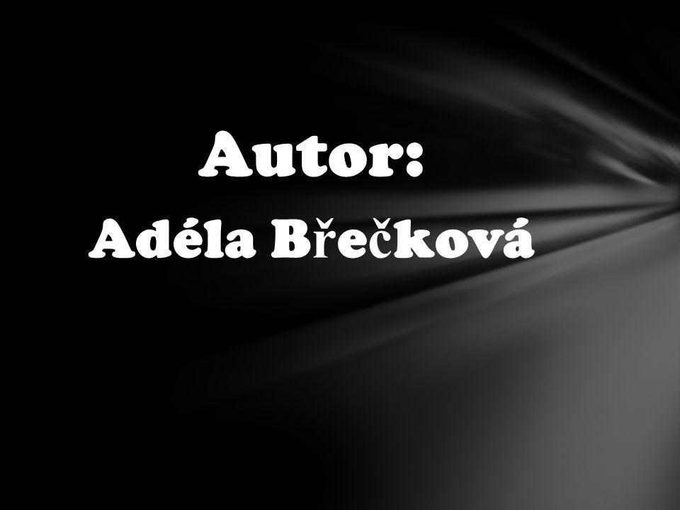 Autor: Adéla B ř e č ková