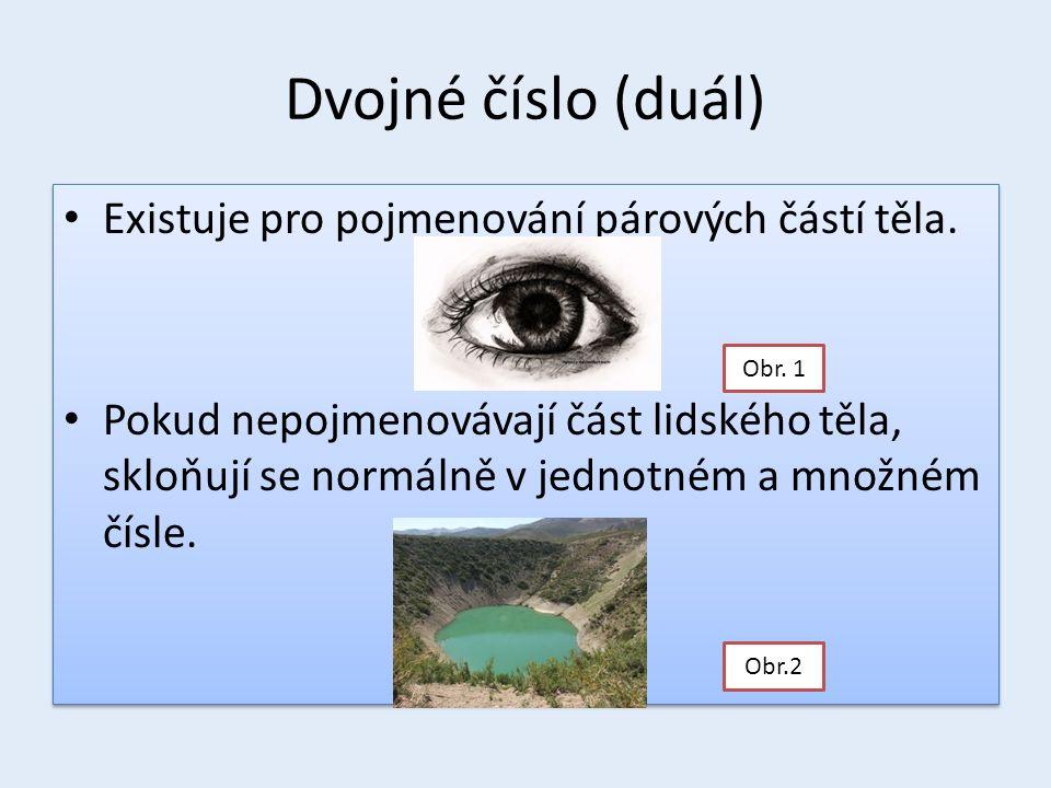 Skloňování - oko (ucho) PádJednotné čísloDvojné čísloMnožné číslo 1.okoočioka 2.okaočíok 3.okuočímokům 4.okoočioka 5.oko!oči!oka.