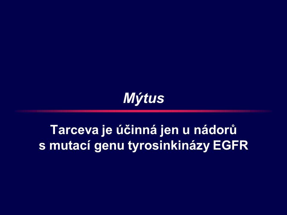 Mýtus Tarceva je účinná jen u nádorů s mutací genu tyrosinkinázy EGFR