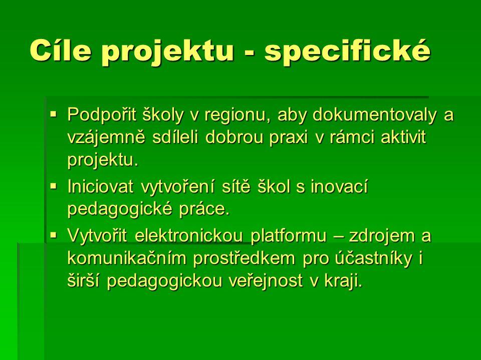 Klíčové aktivity projektu  – konec listopadu 2006  Zahájení projektu – konec listopadu 2006 (1.pracovní setkání účastníků projektu – 30 učitelů/metodiků 2.stupně ZŠ a 15 ředitelů, organizace, materiály, propagace)  – dvoudenní – vzdělávání (mentorské, lektorské, poradenské, týmová spolupráce, supervize)  4 tzv.