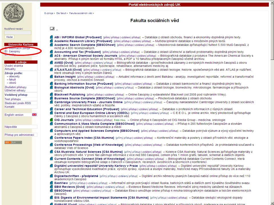 27SVI FSV UK 2010 Vyhledávání v databázích – příklady
